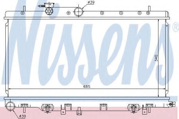 Радиатор, охлаждение двигателя Nissens - 67711