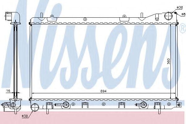 Радиатор, охлаждение двигателя NISSENS арт. 67712