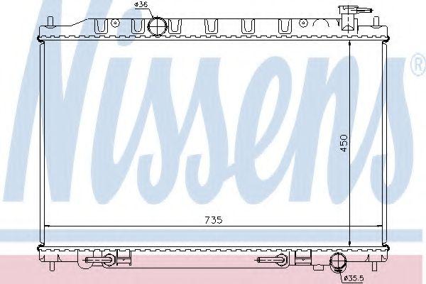 Радиатор, охлаждение двигателя NISSENS арт. 68712