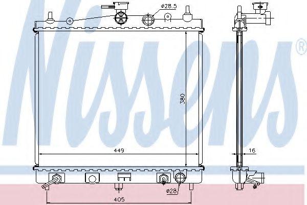 Радиатор, охлаждение двигателя NISSENS арт. 68700A