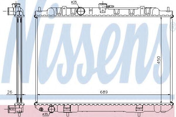 Радиатор, охлаждение двигателя NISSENS арт. 68705A