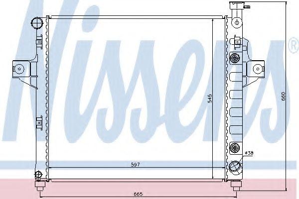 Радіатор охолоджування Nissens 61010