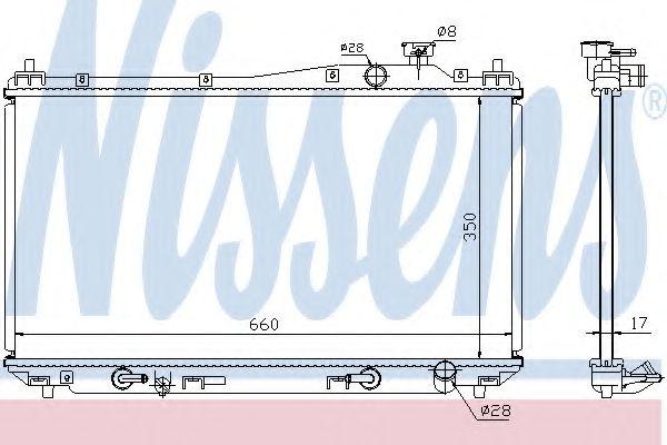 Радіатор охолоджування Nissens 68115