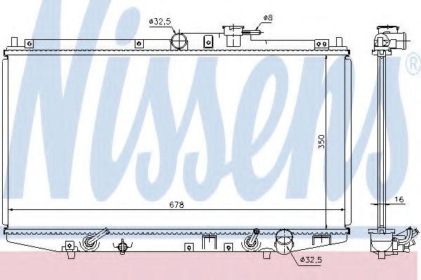 Радиатор, охлаждение двигателя NISSENS арт. 68117
