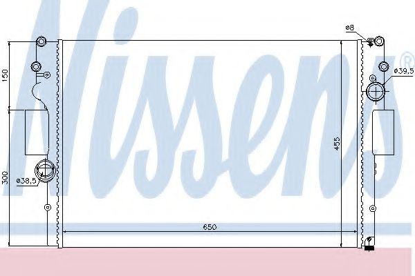 Радіатор охолоджування Nissens 61981