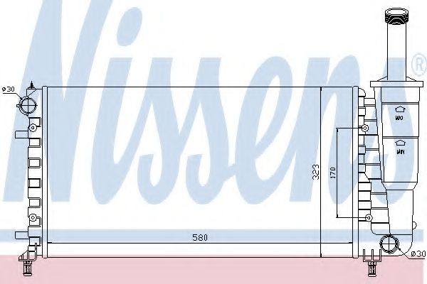 Радіатор охолоджування Nissens 61888