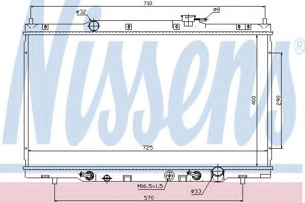 Радіатор охолоджування Nissens 68106