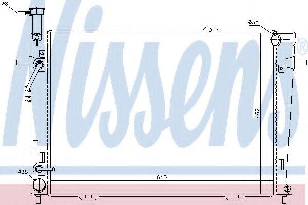 Радиатор, охлаждение двигателя NISSENS арт. 67479