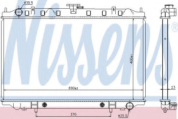 Радиатор, охлаждение двигателя Nissens - 67352