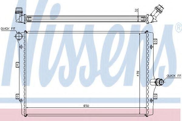 Радиатор, охлаждение двигателя NISSENS арт. 65281A