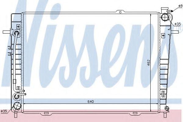 Радіатор охолоджування Nissens 67486