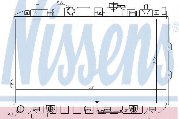 Радиатор, охлаждение двигателя NISSENS арт. 66649