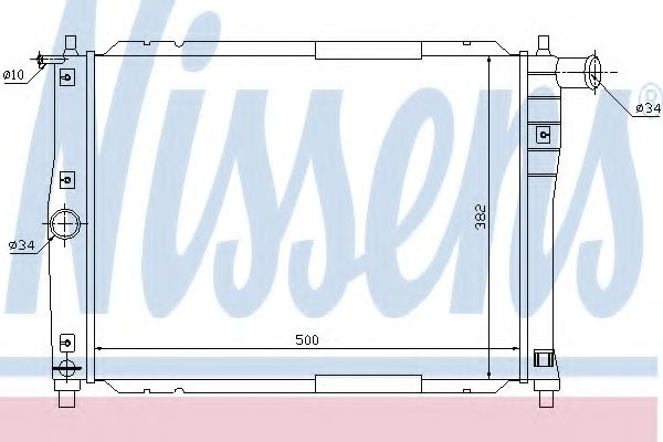 Радиатор, охлаждение двигателя NISSENS арт. 61644