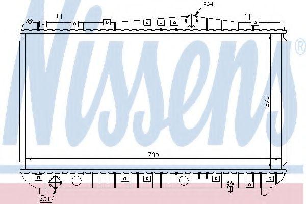 Радиатор, охлаждение двигателя Nissens - 61633