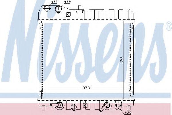 Радіатор охолоджування Nissens 68111