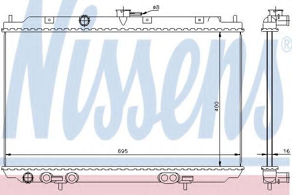 Радіатор охолоджування Nissens 68718