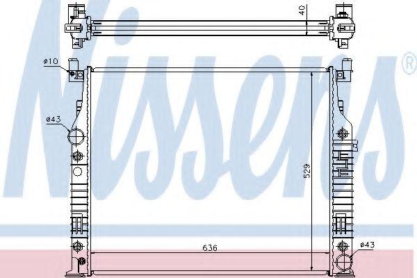 Радиатор, охлаждение двигателя NISSENS арт. 62576A