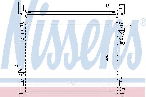 Радіатор охолоджування Nissens 61014A