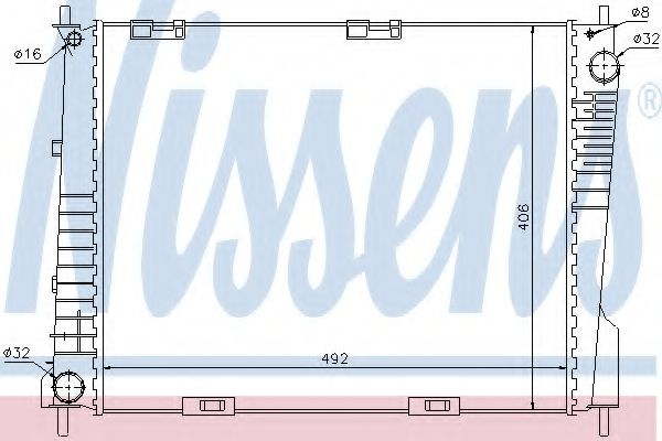 Радіатор охолоджування Nissens 67283