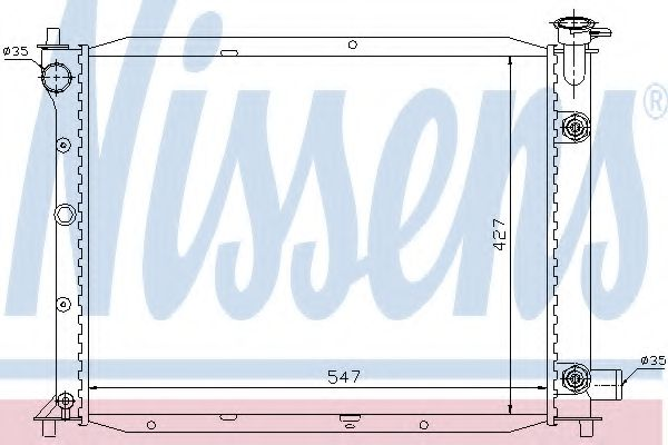 Радіатор охолоджування Nissens 62016
