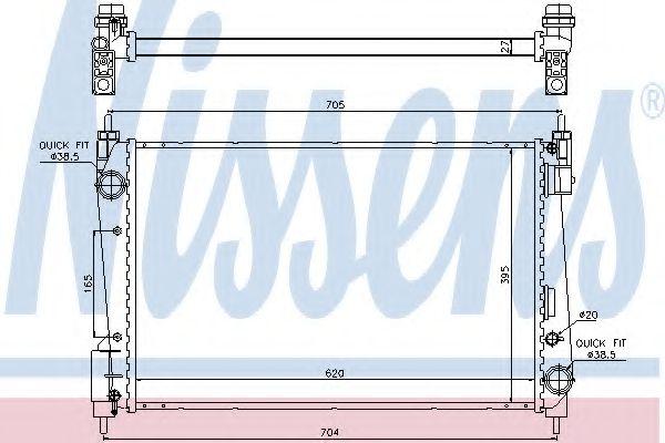 Радіатор охолоджування Nissens 61915