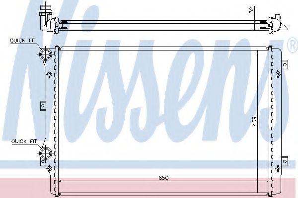 Радіатор охолоджування Nissens 65279A