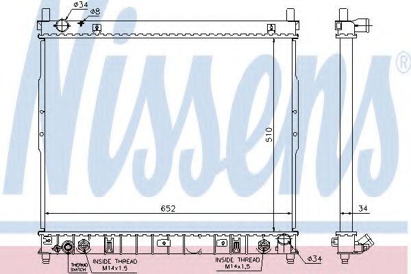 Радіатор охолоджування Nissens 64318