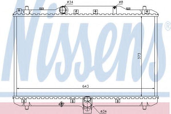 Радиатор, охлаждение двигателя NISSENS арт. 64198