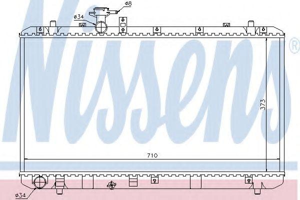 Радіатор охолоджування Nissens 64197