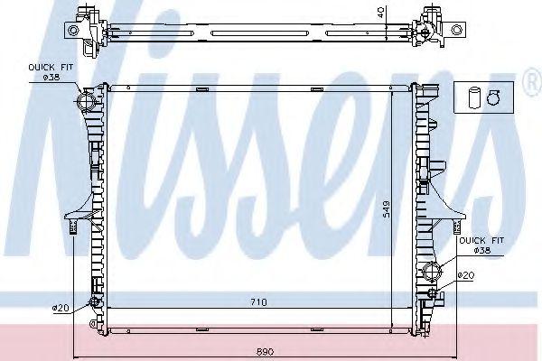 Радиатор, охлаждение двигателя NISSENS арт. 65275A