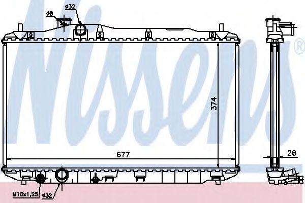 Радиатор, охлаждение двигателя NISSENS арт. 68134A