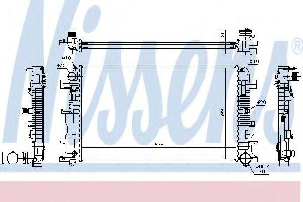 Радиатор, охлаждение двигателя Nissens - 67156A