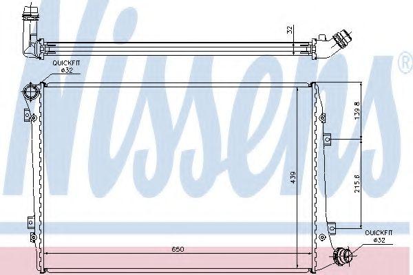 Радиатор, охлаждение двигателя NISSENS арт. 65291A