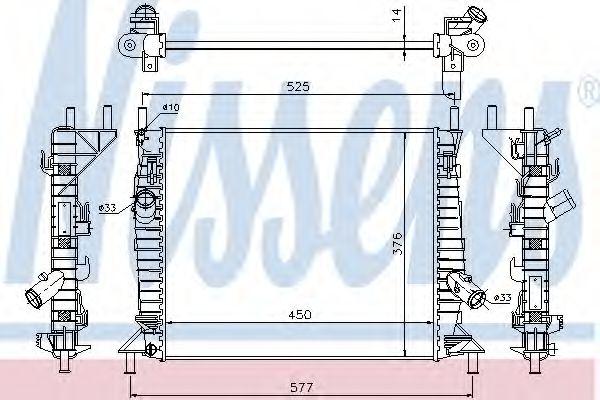 Радіатор охолоджування Nissens 62112