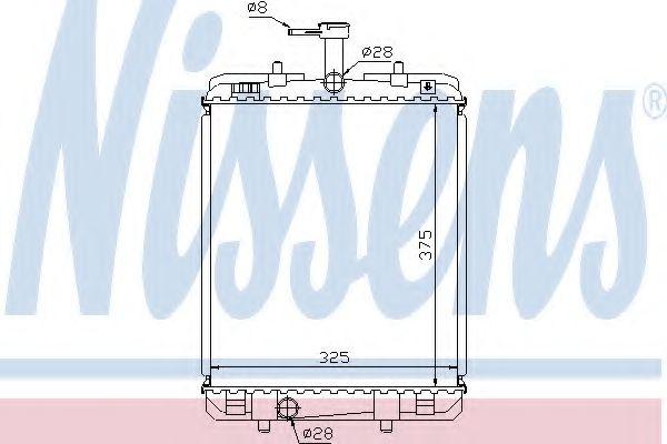 Радіатор охолоджування Nissens 64685