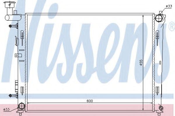 Радіатор охолоджування Nissens 67076