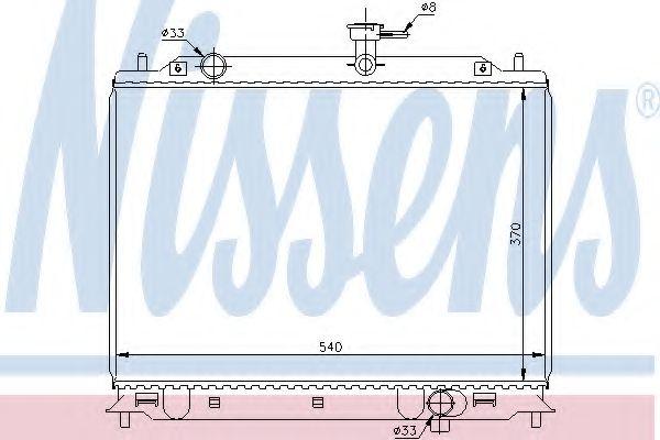 Радиатор, охлаждение двигателя Nissens - 66666