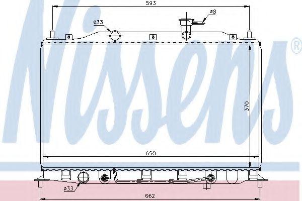 Радиатор, охлаждение двигателя NISSENS арт. 67502