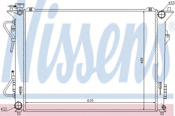 Радіатор охолоджування Nissens 67507