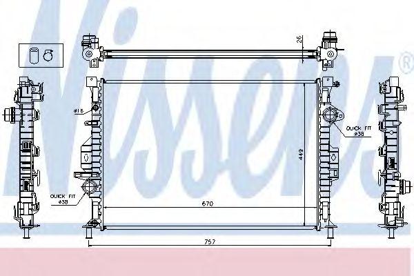 Радиатор, охлаждение двигателя NISSENS арт. 65615A
