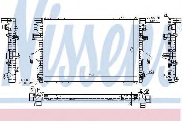 Радиатор, охлаждение двигателя NISSENS арт. 65283A