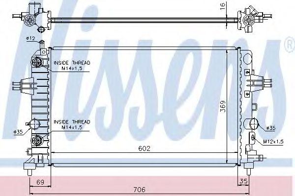 Радіатор охолоджування Nissens 630702