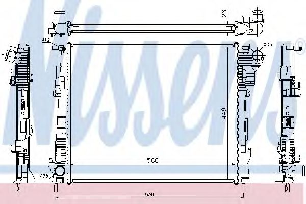 Радіатор охолоджування Nissens 63122