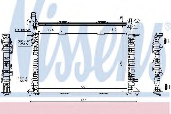 Радіатор охолоджування Nissens 60321