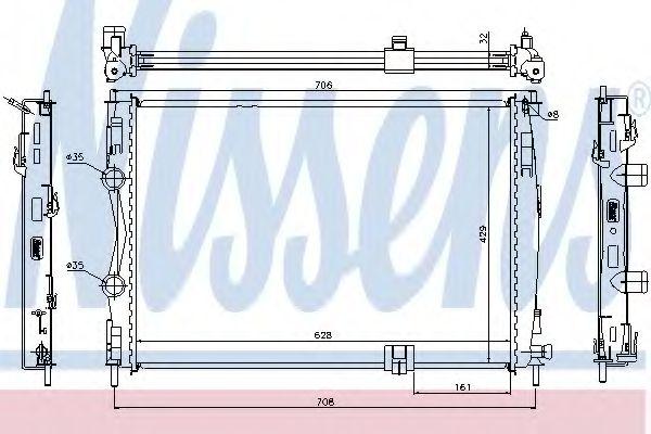 Радіатор охолоджування Nissens 67361