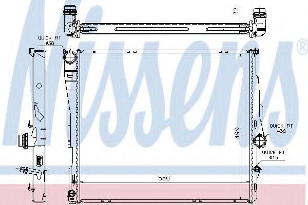 Радіатор охолоджування Nissens 60807