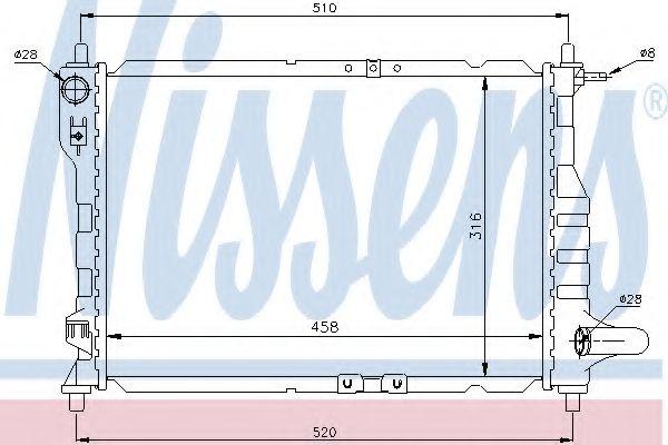 Радіатор охолоджування Nissens 61630