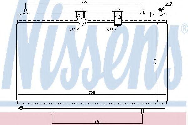 Радіатор охолоджування Nissens 636003