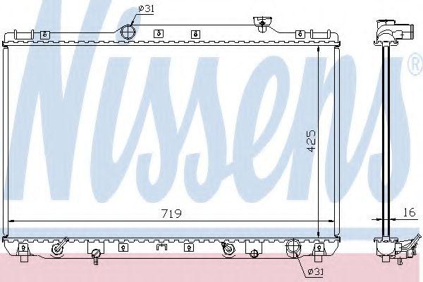 Радиатор, охлаждение двигателя Nissens - 647681