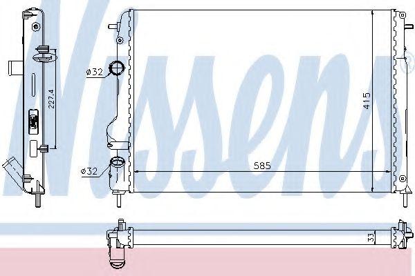 Радіатор охолоджування Nissens 63766